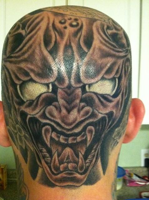 Full head tattoo flickr photo sharing for Full head tattoo