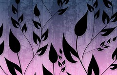 Climbing Vines Wallpapers in Blue Magenta by BackgroundsEtc