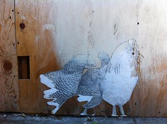 Wheatpaste Chickens