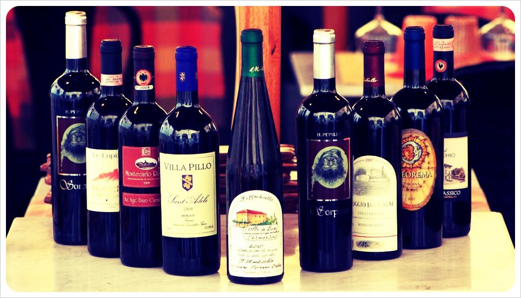 lucca wine bottles
