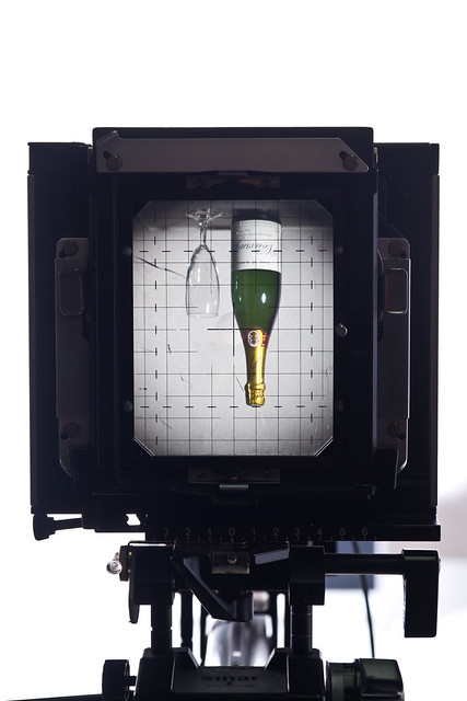Viewing through a Sinar F large format camera