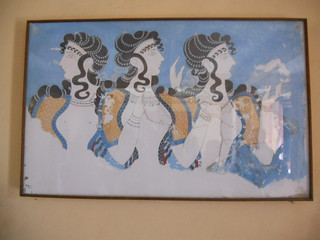 Crete Colours - The Palace of Knossos - The Fresco of the Blue Ladies