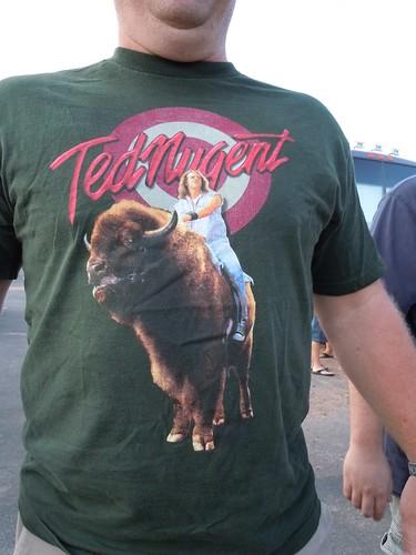08-07-11 Ted Nugent @ Medina, MN (T-shirts in the crowd)