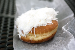 coconut doughnut @ peter pan