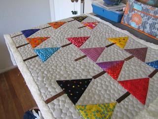 polka dot forest quilted