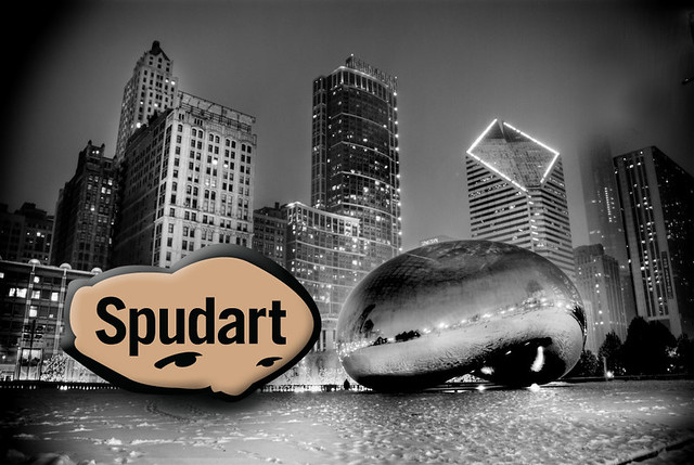 Spudart logo looks like the Chicago Bean