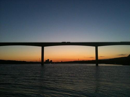 sundown baybridge fjord bro vejle vejlefjordbroen sunriseiphone