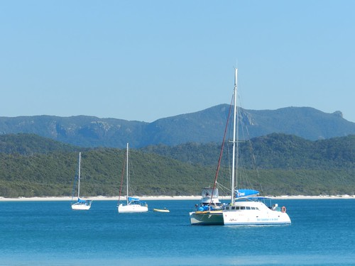 Sunsail vessels and Whitehaven Beach seem to come hand-in-hand