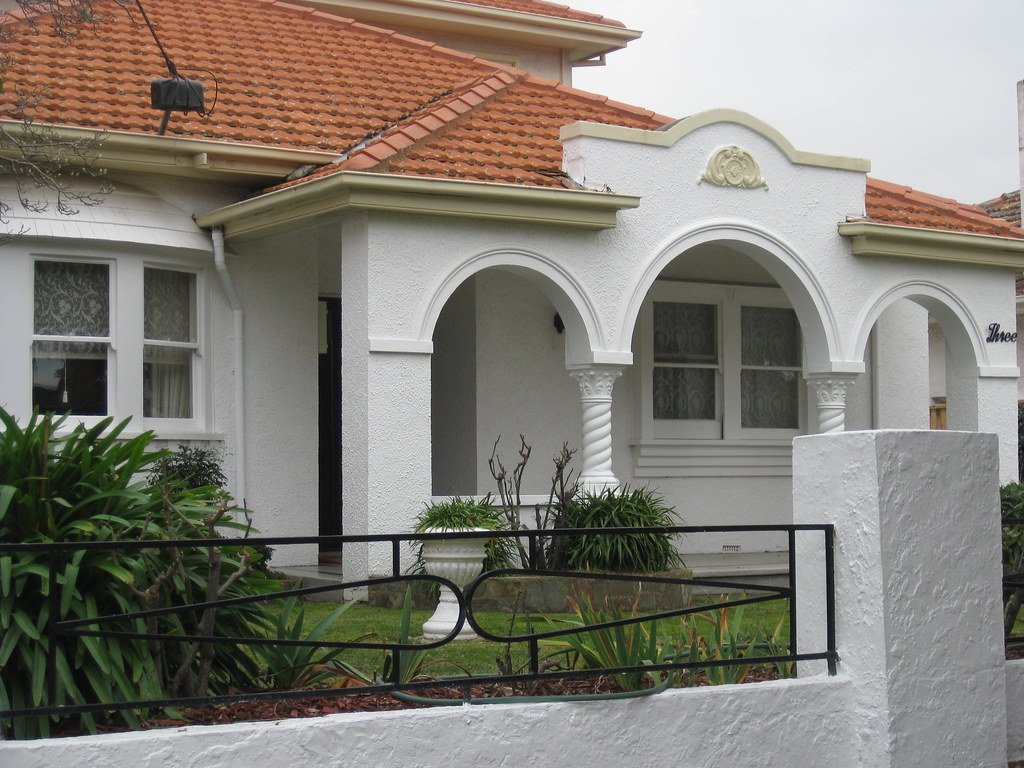 A Spanish Mission Style Villa in White - Moonee Ponds