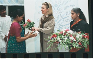 1995: Hillary Rodham Clinton in India