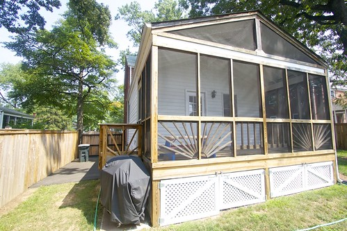 House Notes Enclosed Patio Renovation Amp Siding Update