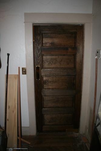 Kitchen Swing Door : Craftsman bungalow kitchen dining room swing door