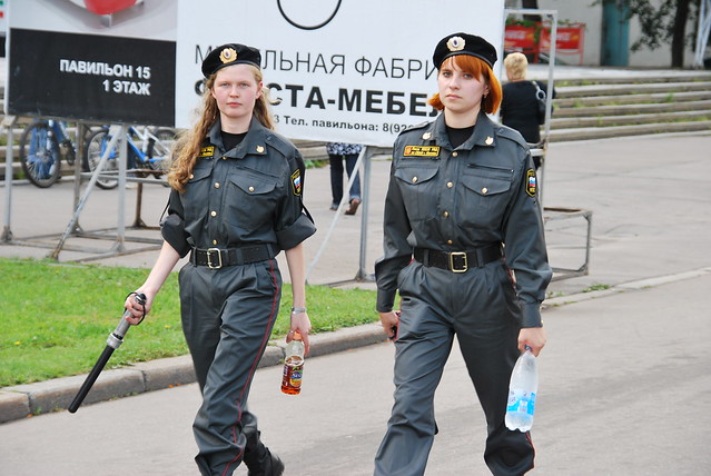 Draw? Russian girl police outfit