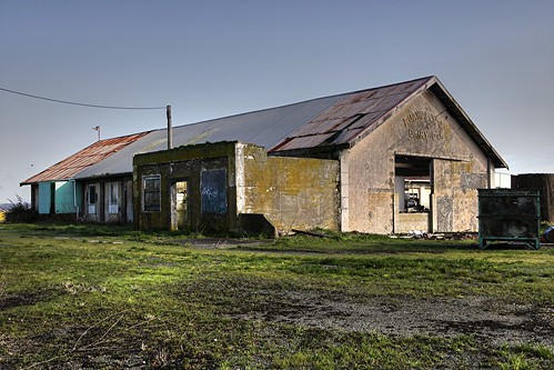 Old dairy factory, Ruawai, Northland, New Zealand