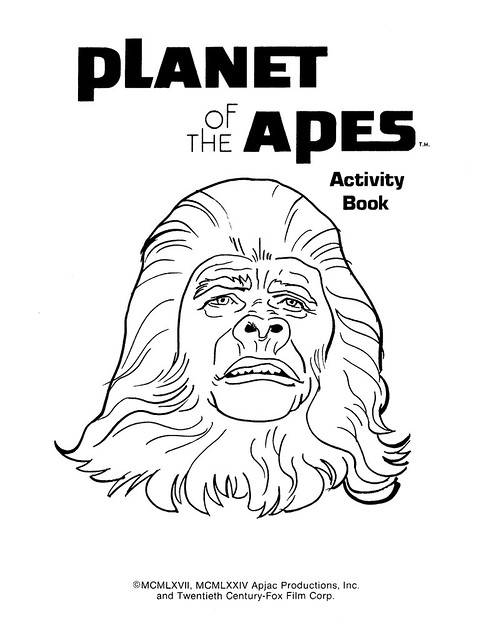 Planet of the Apes Activity Book 0100002