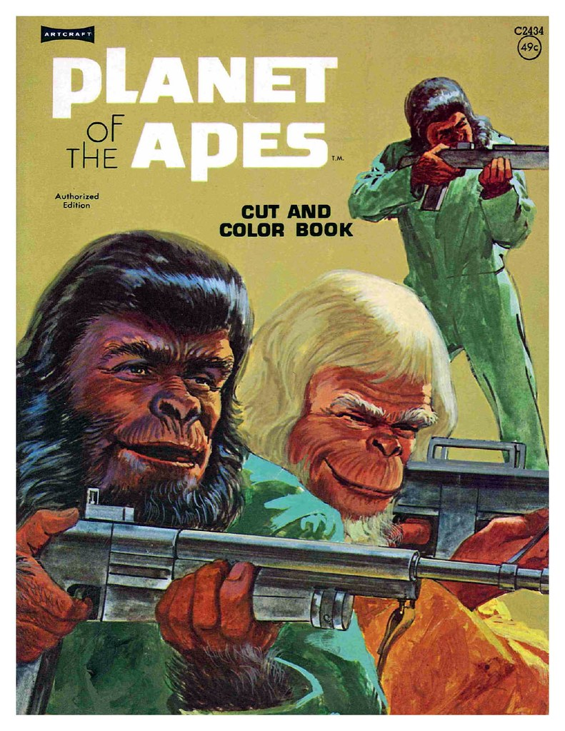 Planet of the Apes Cut & Color Book00001