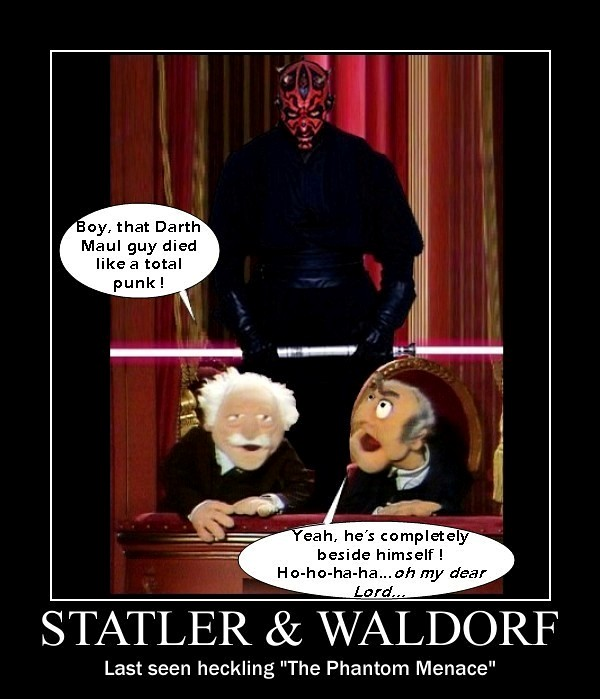 The muppets statler waldorf heckling is hazardous to for View from balcony quotes
