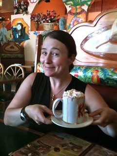 Nancy & her Mexican hot chocolate