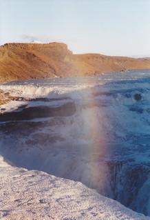 rainbow over Gullfoss, Iceland, Oct 2000