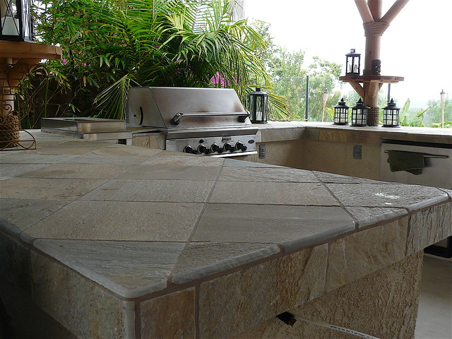 Outdoor Bbq Tile Counter Top Flickr Photo Sharing