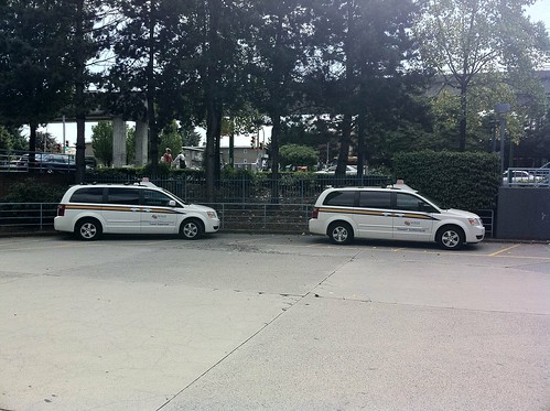Two transit supervisor vans
