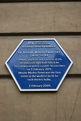 Photo of Joseph Swan blue plaque