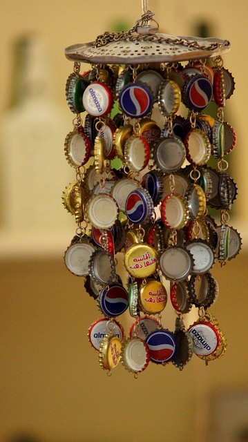 Bottle Cap Wind Chime, from Pianista.9's flickr stream