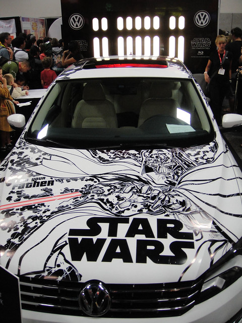 San Diego Comic-Con 2011 - the finished VW Passat with hand drawn Star Wars art by Ken Lashley