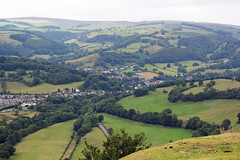 View of Llangollen from the Panorama.