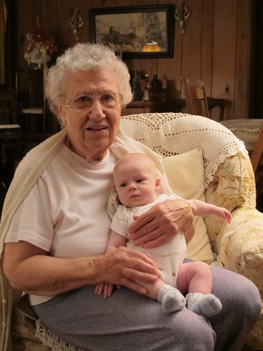 Owen and Great-Great-Auntie Leona