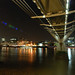 The Millenium Bridge, Tate Modern and The Shard by Night by Puckpics
