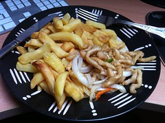 fish and chips(0.0), meat(0.0), steak frites(0.0), cheese fries(0.0), meal(1.0), side dish(1.0), canadian cuisine(1.0), french fries(1.0), food(1.0), dish(1.0), cuisine(1.0),