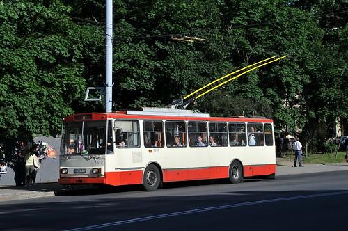 Un filobus a Vilnius