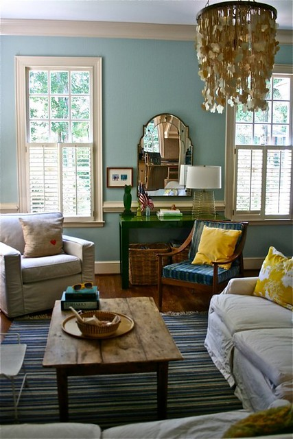 Blue Living Room Colorful Accents Benjamin Moore 39 Wythe Blue 39 Flickr Photo Sharing