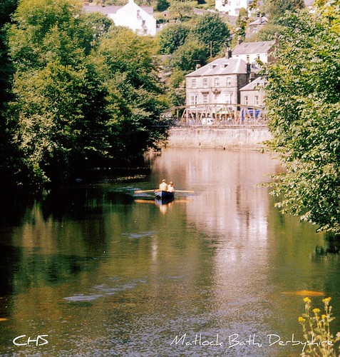 Rowing the River Derwent, Matlock Bath, Derbyshire by Stocker Images