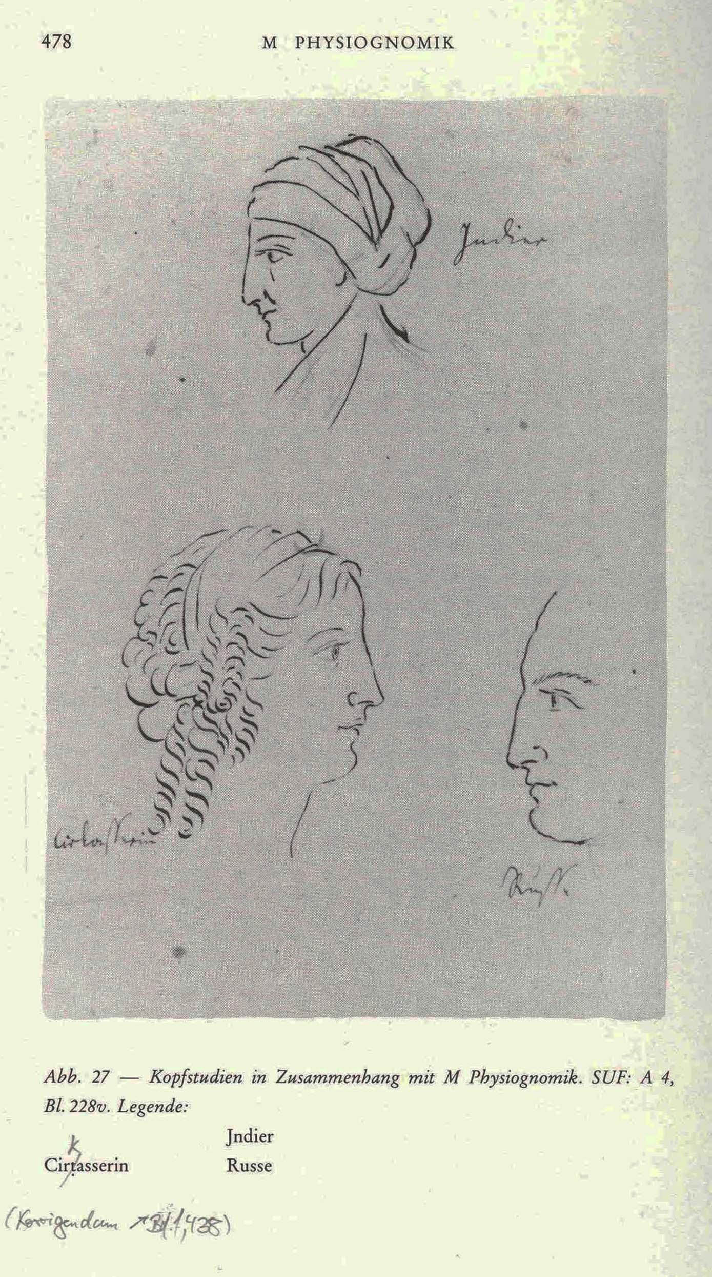 Karoline von Günderrode, Kopfstudien, 1805