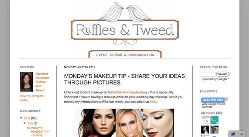 Ruffles & Tweed: Wedding Day Makeup Makeup Tip