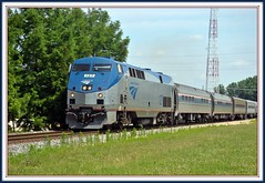 Amtrak Locomotive 127 :GE P42DC: At Champaign Urbana IL