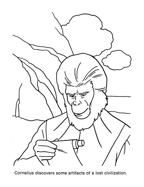 Planet of the Apes Coloring Book 0200056