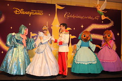 Meeting Cinderella, Prince Charming, Fairy Godmother, Suzy and Perla at the Finale Dinner at the Disneyland Hotel at Hong Kong Disneyland