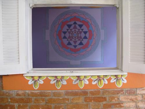 Sri Yantra (na sala de yoga do templo antigo da Vrinda na Jorge Tibiriça)