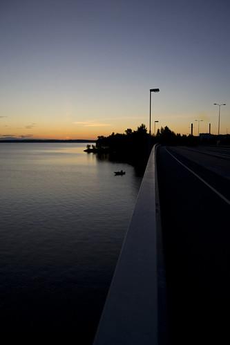 road night sunrise fisherman tampere