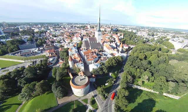 Tallinn Old Town at dawn