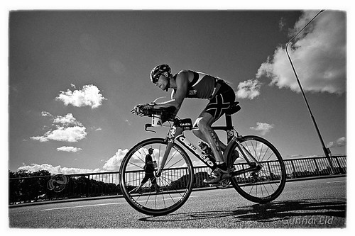 Biker at Kalmar Triathlon