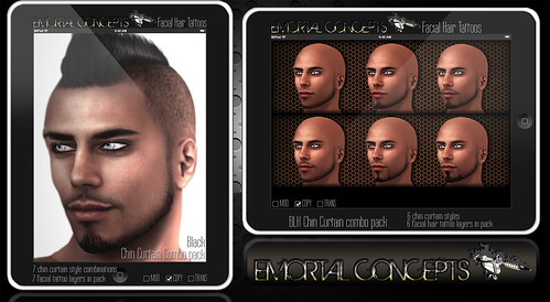 EMORTAL CONCEPTS Facial Hair Tattoo Chin Curtain Ad for Flickr