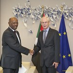 Mr El Tigani Saleh Fedail, Head of the Mission of the Republic of Sudan to the European Union, presents his credentials to the President of the European Council, 27 September 2011