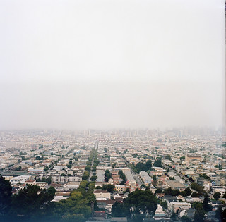Looking down from Bernal heights