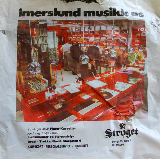 Oslo Norway - Record Store Bag 1977