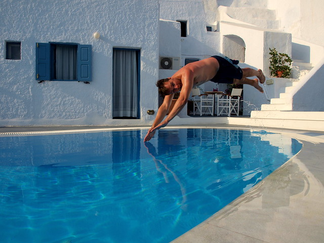 Swimming Pool Action : Frozen action jump into swimming pool flickr photo