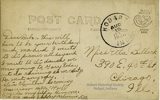Postcard, Ruth Bullock to Etta, Aug. 15 1908